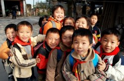 Schulkinder in China
