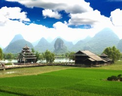 Landschaft um Guilin